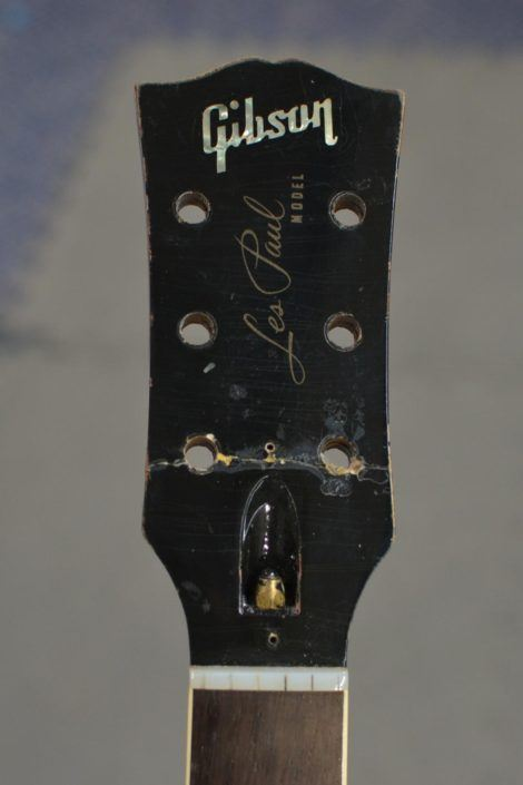 broken headstock repair les paul