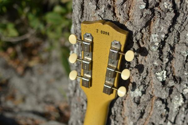 electric,guitar,tv,yellow,gibson,lespaul,jr,special,model,historic,makeovers,vintage,refin,makeover,acurate,relic,custom,s,fifties,headstock,tuners,plate,kluson